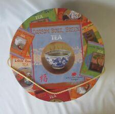 """Vintage Round Cardboard Hat / Keepsake Box ~Tea Labels by Lisa Ven Vertloh ~13"""""""
