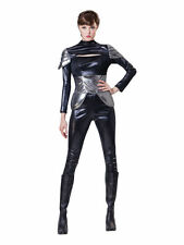 SPY LADY BLACK BODYSUIT MISSION PARTY LADIES COSTUME