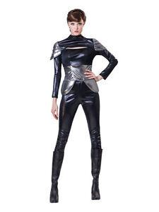 Spy Femme Body Noir Mission Fête Femmes Déguisement