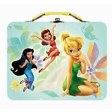 TINKERBELL SILVERMIST ROSETTA - Disney Fairies Kids Metal Tin Tote Lunch Box Bag
