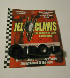 """AFX TURBO / MEGA G _ """"JEL CLAWS"""" >RACING FRONT & REAR TYREs! (x1 FULL SET) #Mod!"""