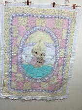 VGT Precious Moments Girl Snugg Nursery Decorative Handmade Baby Blanket 37.5X47