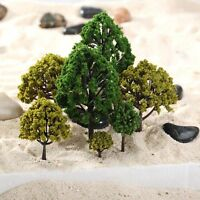 40pcs Mixed Scale Model Trees HO N O Scale Model Trees Train Railway Layout