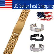 22228f6630b Men Metal Stainless Steel Watch Bracelet Band Clasp Replacement Wrist Watch  Band