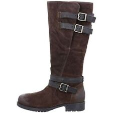 Clarks Ladies Adelia Dusk Brown Suede Long Boots Size UK 6/39.5 D