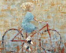 CHILDREN ART PRINT Bicycle Rebeca Kinkead