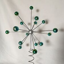 ATOMIC Molecular Star Burst TREE TOPPER Xmas ART SCULPTURE Blue Spectra Flame