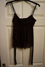Strappy brown evening top size 10