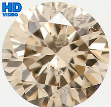 Natural Loose Diamond Round SI2 Clarity Brown Color 3.80X2.30 MM 0.209 Ct KR377