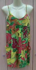 Ladies Atmosphere Green, Orange & Yellow Cotton Jersey Sundress, Size 8, BNWOT
