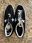 converse one star vintage Size 9.5 Mens Black/White Suede