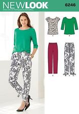 NEW LOOK SEWING PATTERN Misses' Tapered Ankle Pant & Knit Top SIZE 8 - 18 6246