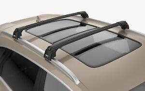 Turtle Black Air V2 Roof Rail Racks Cross Bar for Jeep Grand Cherokee WK2