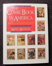 1989 THE COMIC BOOK IN AMERICA by Mike Benton - Taylor HC/DJ NM/VF+ Inscribed