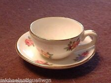 Vintage Royal Adderley Multi-Floral Miniature Cup & Saucer Mint