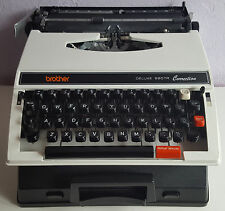 Brother Deluxe 660TR Correction Typewriter, With Case.