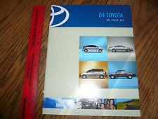 2004 Toyota Camry Corola Matrix Echo Celica Prius Sienna Sequoia Sales Brochure