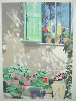 Nina Due (1948) Finestra Kunstblatt Unterzeichnet Am Bleistift Um 1970 Italien