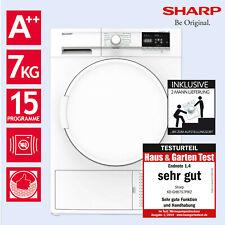 Wäschetrockner Trockner Wärmepumpentrockner A++ Sharp KD-GHB7S7PW2-DE 7kg 2ML