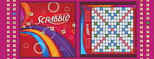 """16"""" REMNANT SCRABBLE HASBRO BOARD GAME NIGHT TILES WORDS LETTER COTTON FABRIC QT"""