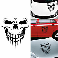 16'' Skull Head Car Auto Sticker Engine hood door Car styling Reflective Decals