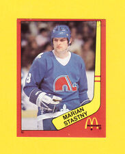 Marian Stastny Quebec Nordiques Scarce 1983 McDonalds Quebec Hockey Sticker