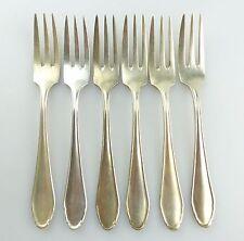 #e5069 6 alte Kuchengabeln in 100er Silberauflage