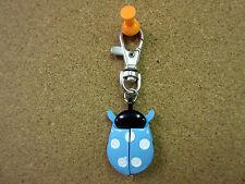 New Blue & White Ladybug Clip Quartz Watch White Dial Ladybugs