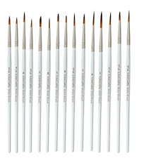 Set 15 Extra Fine Détail Acrylique Nail Art Craft Modélisation Paint Brush Set PB-001