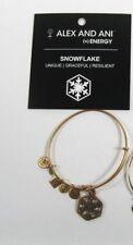 Alex And Ani gold tone Snowflake Bracelet