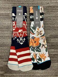 2 Pairs of Mens Stance Socks L/XL 9-12/13