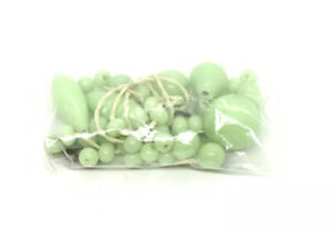 Vintage Green Glass Bead Lot For Restrand Craft