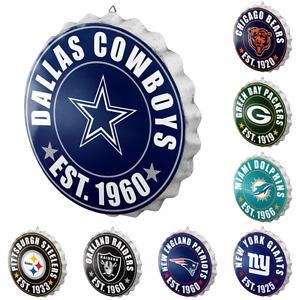 NFL Football Team Logo Bottle Cap Wall Sign - Choose Team