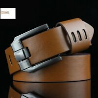 Men's Belts Casual High Quality Genuine Leather jeanscowboy Military Belts.