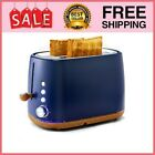 Kichele Toaster 2 Slice Toasters Retro Stainless Steel With Extra Wide Slot, photo