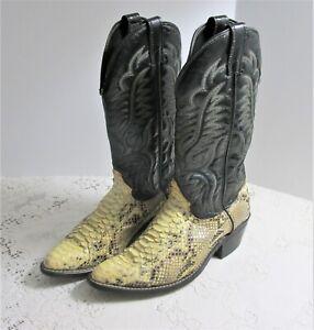 Vintage Laredo Snakeskin USA Made Leather Western Cowboy Boots Men's Size 9.5 D