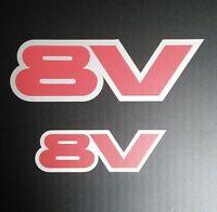 Exterior Vinyl Graphics For Vauxhall Opel Astra GTE / 8v (8v Logo) (Set of 2)