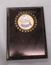 5 x 7 coaches plaque black finish award trophy gold and blue insert