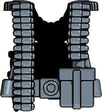 5 Brickarms Vests grey Gunners WW2 Vest for LEGO figures