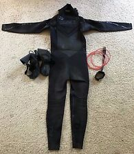 4/3 O'neill Mutant Wetsuit and 3/2 Psycho Tech Booties FREE Merrick Leash LO