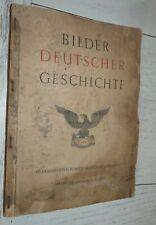ALBUM CHROMOS BILDER DEUTSCHER GESCHICHTE 1936 HAMBURG POUR RECUPERATION IMAGES