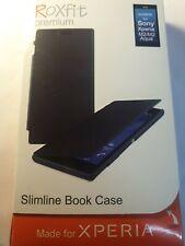 Genuine Roxfit Sony Xperia M2 / M2 Aqua Slimline Book Case Touch Stand Black