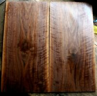 curly figured black walnut .33 thick drop top guitar bass tone wood luthier 1379