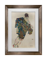 "Egon SCHIELE Lithograph SIGNED Dated #'ed Ltd Ed.100 Redemption"" 1913 +FRAMING"