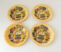 Vintage Set Of San Diego Zoo Animal Coasters Bamboo Drinking Made In Taiwan