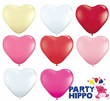 """11"""" Heart Latex Balloons Qualatex Helium Quality Wedding Party Decorations"""