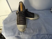 MEN'S LANVIN GREY/BLACK LEATHER/TEXTILE LACE UP SHOES SIZE UK 6 GREAT CONDITION