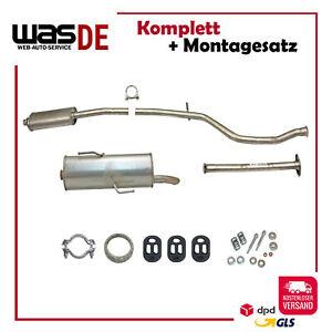 Montagesatz 98-01 Neu Auspuff Peugeot 206 1.4 Auspuff Endtopf Mittelrohr