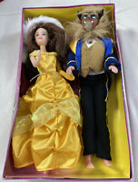 Vintage Disney Princess Belle And The Beast Dolls Boxed 2001 Both 29 Cm Tall