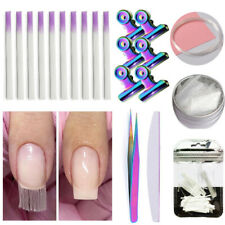 Fiberglass Nails Extension Kit Nail Art Building Manicure Salon Tool with Clip